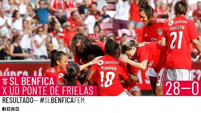 #SLBenficaFem | ⏹ Termina o encontro! | SL Benfica 28-0 Ponte de Frielas. Photo