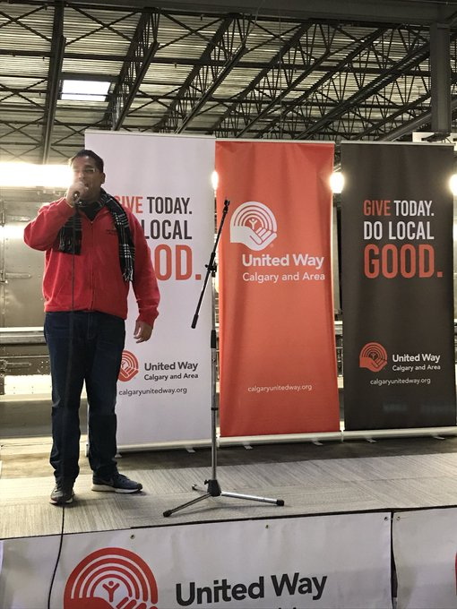 Our own @KennyVLimaC talking about our decade long partnership with @UnitedWayCgy! Thank you United Way for all of your support. #DoLocalGood Photo