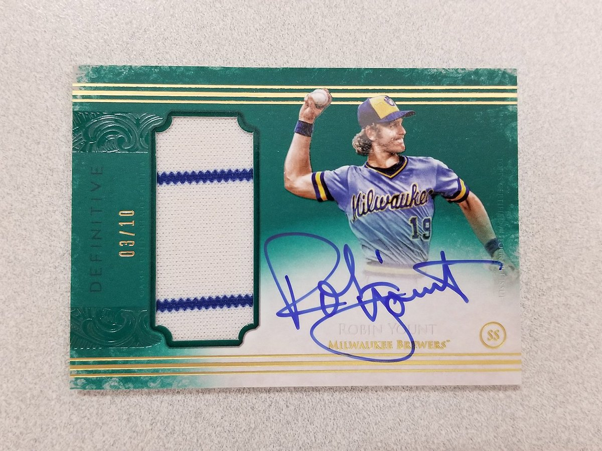 For Robin Yount's birthday, we are giving away this sweet card.     Just RT to enter to win. #MLBCards