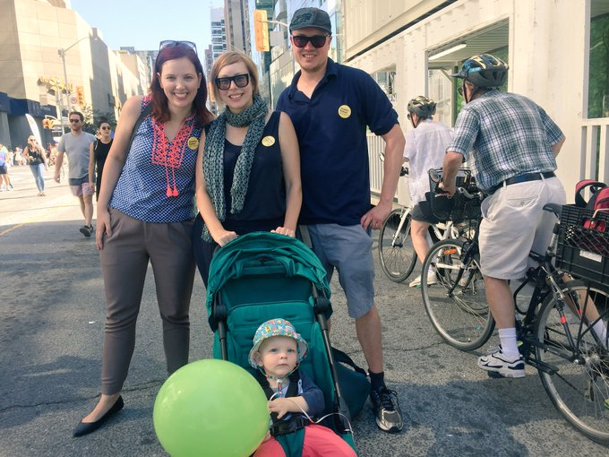 Happy #OpenStreetsTO What a beautiful day to walk, bike, dance, redefine our streets. Photo