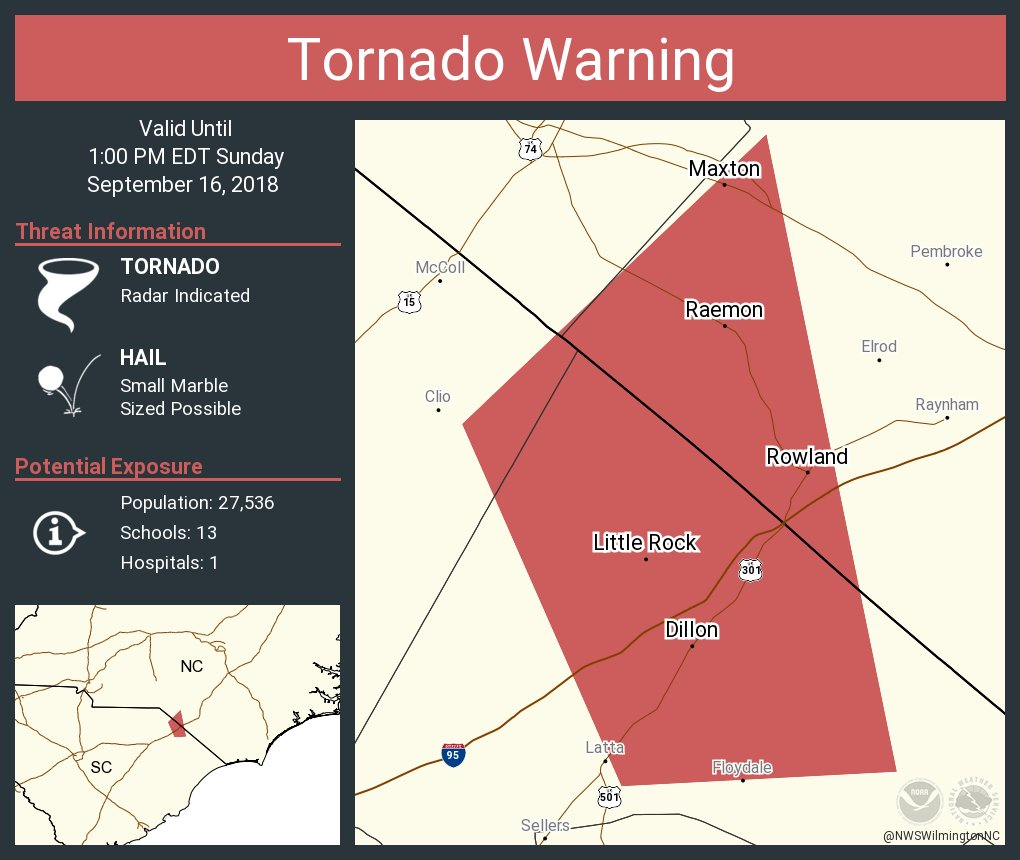 Maxton Nc Map.Nws Wilmington Nc On Twitter Tornado Warning Including Dillon Sc