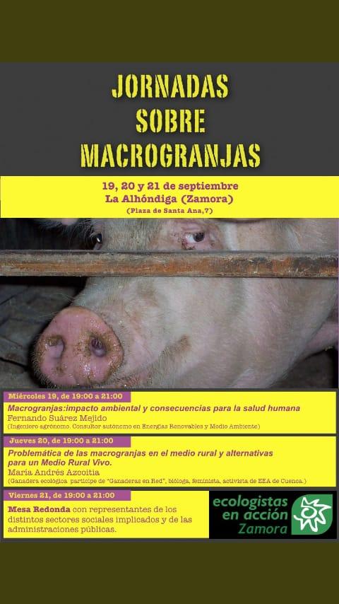 Jornadas sobre macrogranjas @ La Alhóndiga (Zamora) | Zamora | Castilla y León | España