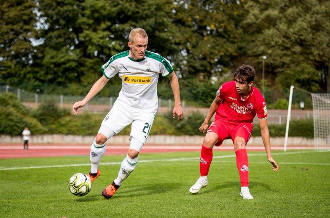 Borussias U23 hat sich im Derby gegen den @fckoeln ein 1:1 erkämpft. Trotz vieler guter Chancen gelang erst spät der Ausgleich durch Thomas Kraus. 👉 Foto