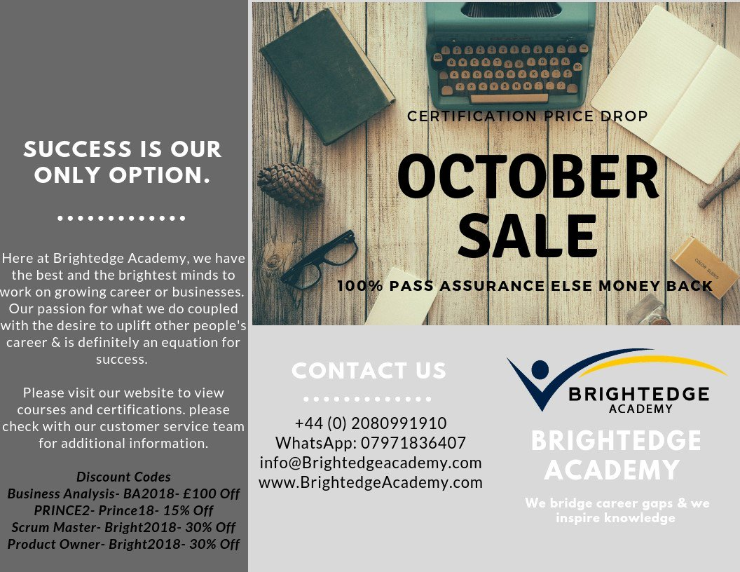 Brightedge Academy On Twitter All The Management Certifications
