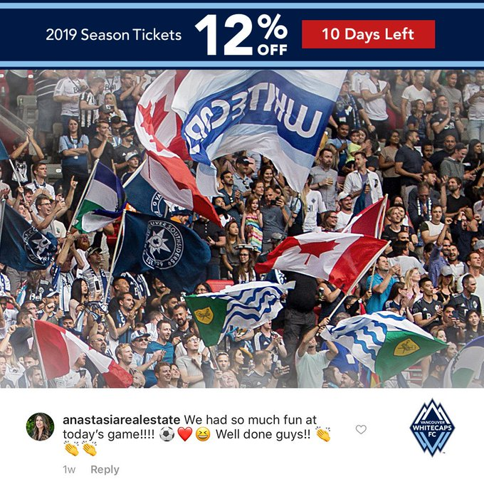 👐 days left! Join the fun and be there for every moment of 2019 → #VWFC Photo