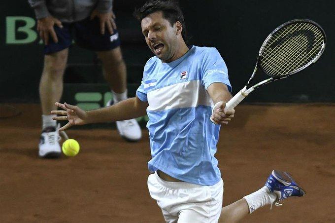 Horacio Zeballos cerró la serie de Copa Davis entre Argentina y Colombia con un triunfo ante el debutante Mejía Foto