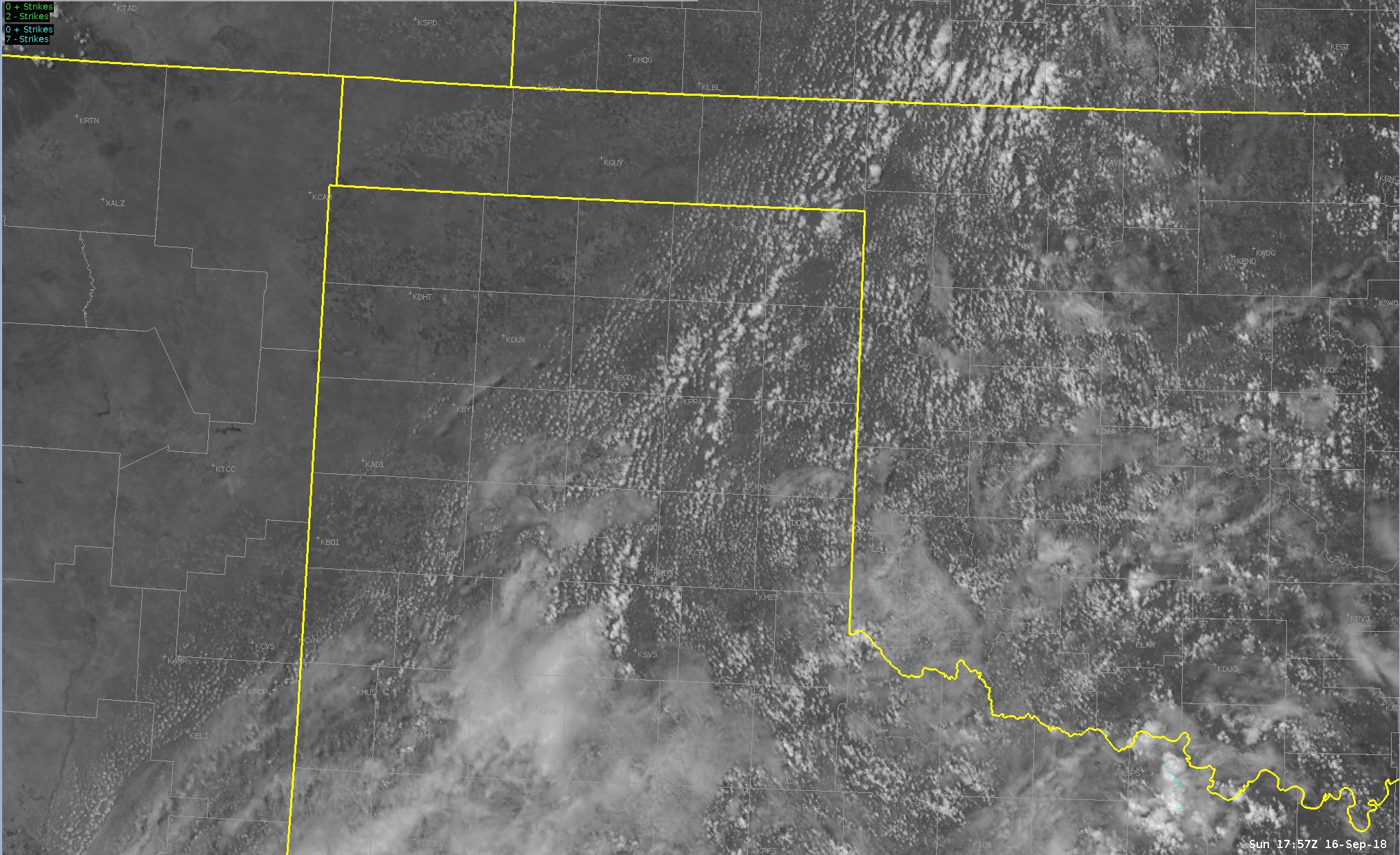 Cumulus clouds seen over SE 1/2 of Combined TX/OK Panhandles from lingering tropical moisture. #txwx #phwx https://t.co/RjN1tzmBl6
