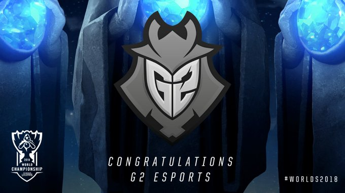Congratulations to @G2esports on winning the 2018 #EULCS Regional Qualifier and qualifying for the 2018 World Championship! #Worlds2018 Foto