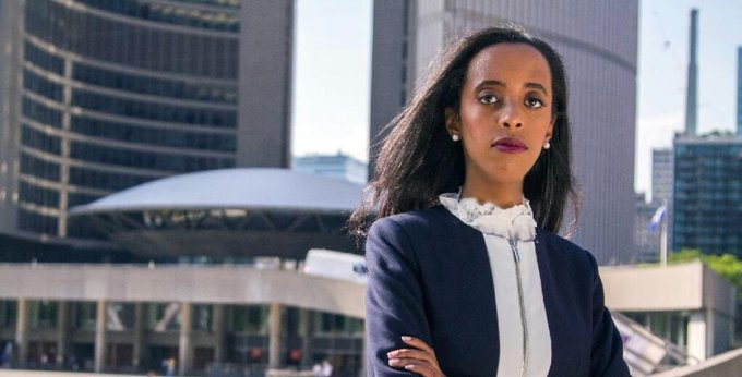 To date, the City of Toronto has never elected a person of colour as mayor. This year, mayoral candidate Saron Gebresellassi plans to change that. from @philldmorgan #TOpoli #TorontoVotes @SaronGeb Photo
