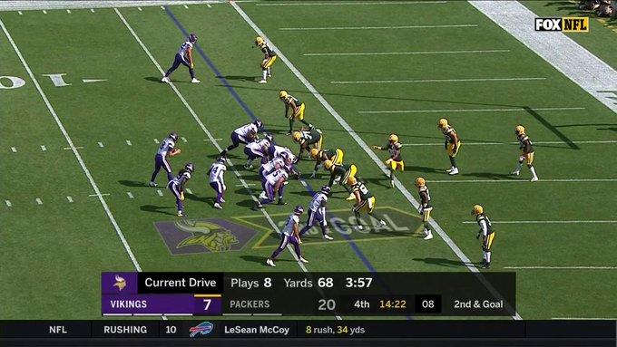 Touchdown de Steffon Diggs! Os Vikings estão vivos no jogo! #NFLBrasil #MINvsGB Foto