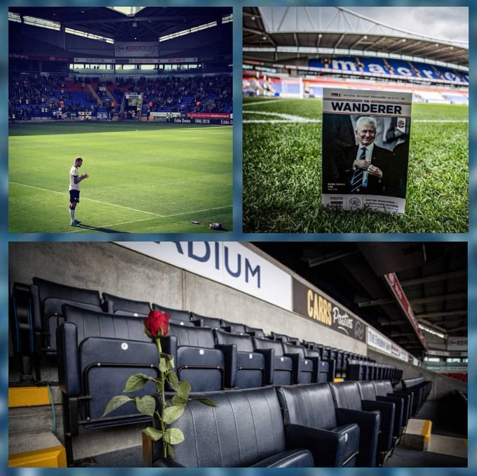 DEP EDDIE DAVIES. Fantastic and excelent person who lived by and for his club : @OfficialBWFC #family #whites @premierleague Photo