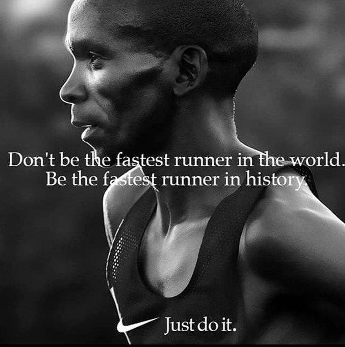 No seas el corredor más rápido del mundo. Se el más rápido de la historia. ●Eliud Kipchoge● WR maratón(🕛02:01:39). Berlín,2018. Foto