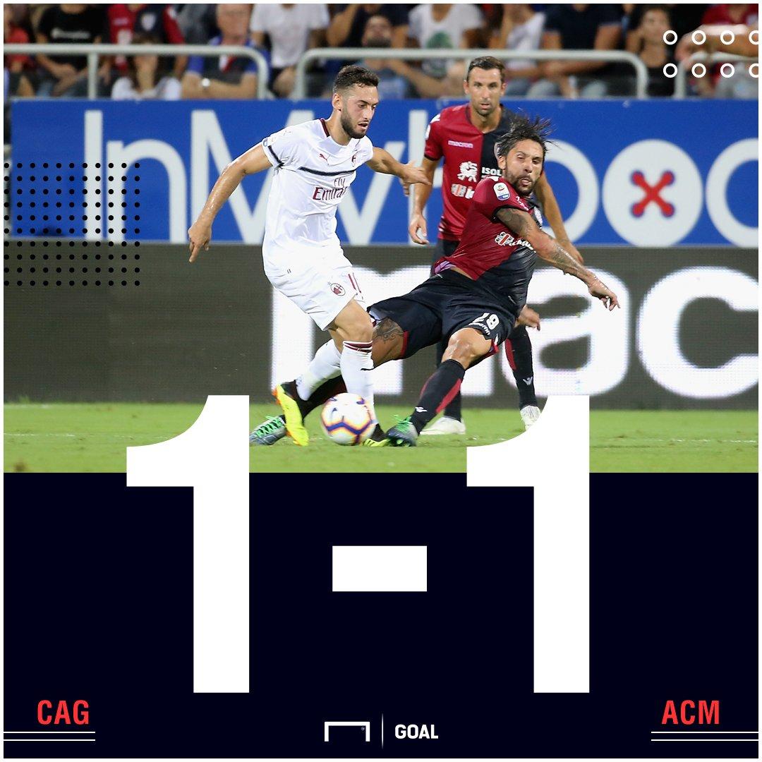 FT: #Cagliari 1-1 #Milan  https://t.co/W09jkJtwyW  #MatchdayGoal #SerieA https://t.co/92WOHGh9sK