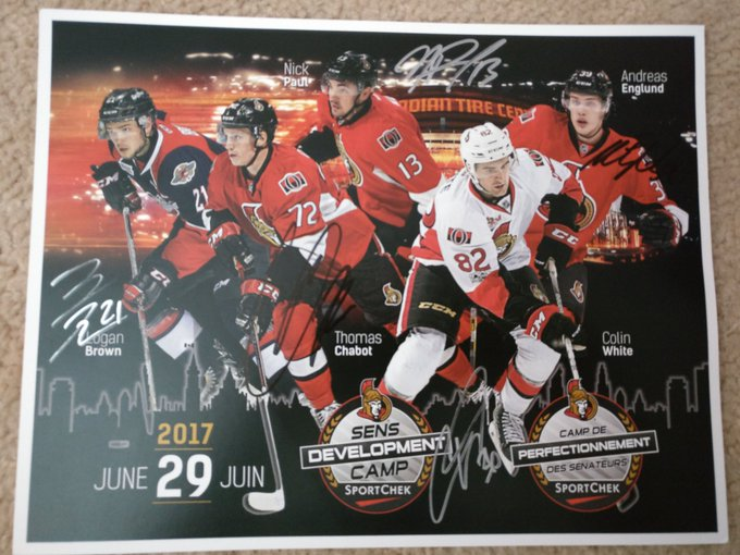 And got Nick Paul and Andreas Englund today to finish this piece off #SensFanFest Photo