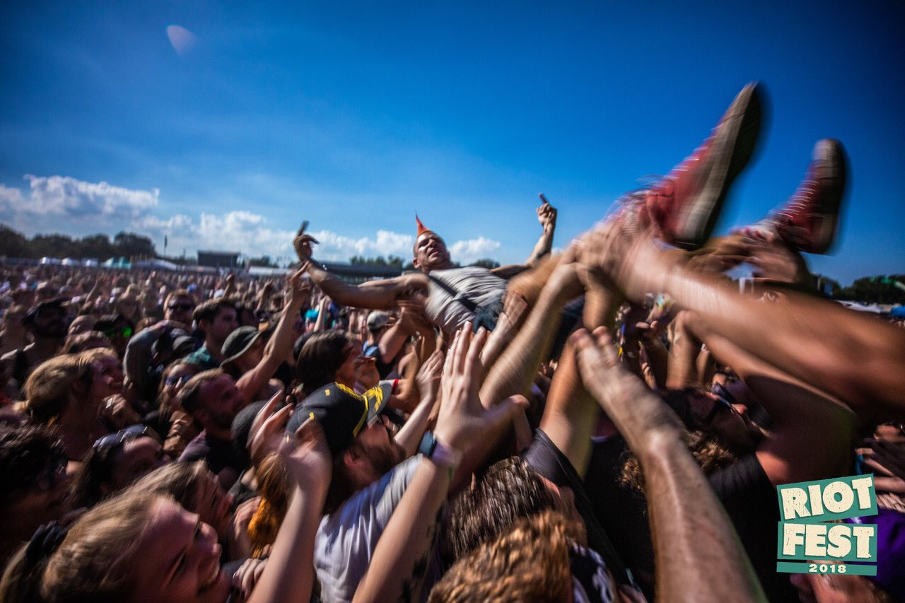Crowd surfing to @swmrs at Riot Fest. https://t.co/8BrO11S3zc