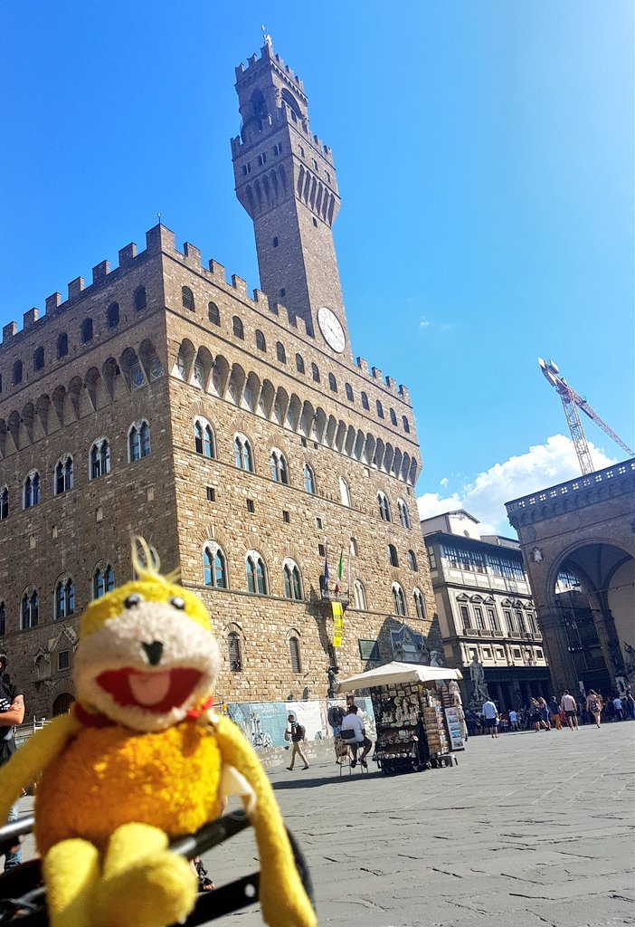 The beautiful Palazzo Vecchio on the Piazza della Signorina. Flat Eric was impressed by the Salone dei Cinquecento. #palazzivecchio #inferno #tomhanks #FlorenceHurricane2018 #Florence #artblog #art #renaissance #danbrown #michelangelo #perseus #vasari #cercetrova #holiday #Medici  - Ukustom