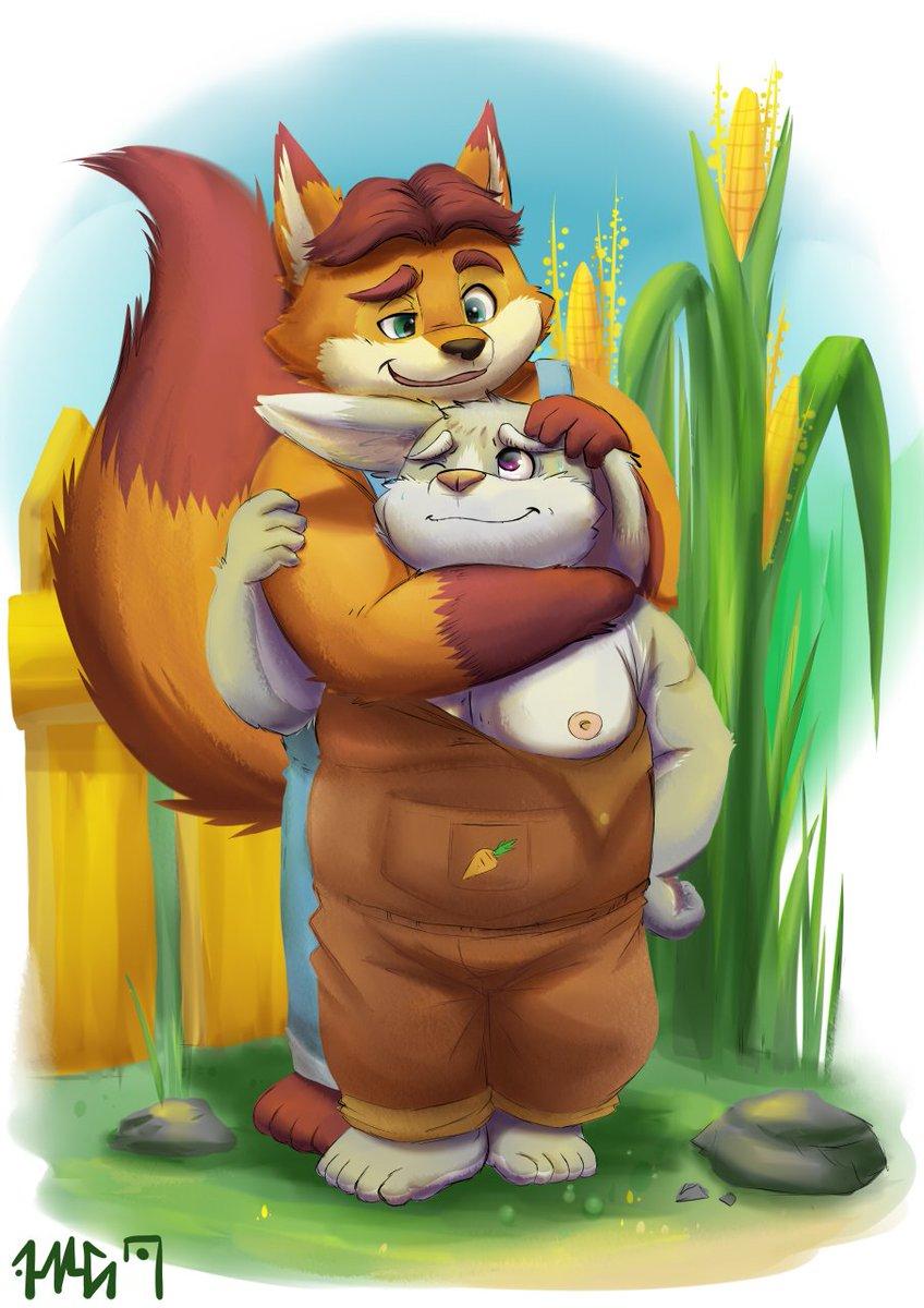 5th On Twitter Gideon Caught Himself A Bunny Zootopia Fanart Gideongrey Foxandbunny
