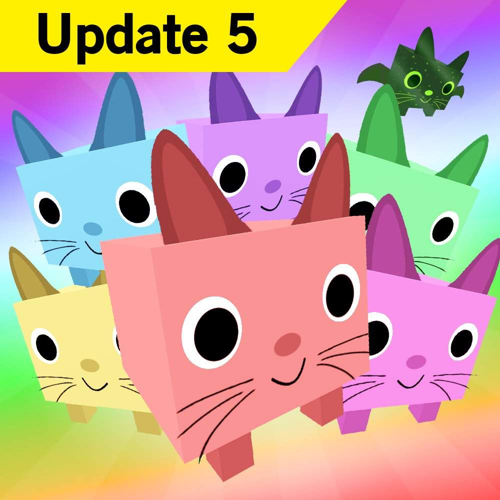 Big Games On Twitter Pet Simulator Update 5 Is Out Rainbow
