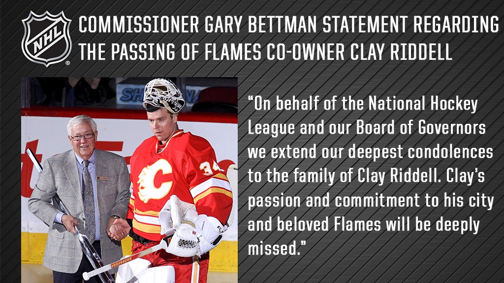 Nhl Public Relations On Twitter Commissioner Bettman Statement On