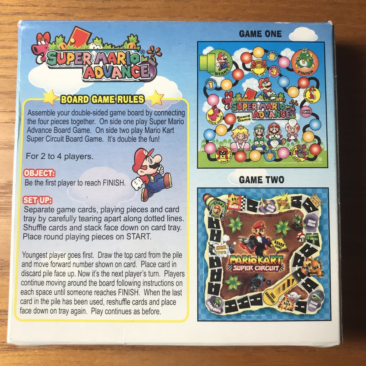 Fantasy World 9 On Twitter Box Containing A Board Game Based Circuit Games Super Mario Advance And Kart From Wendys Kids Meal