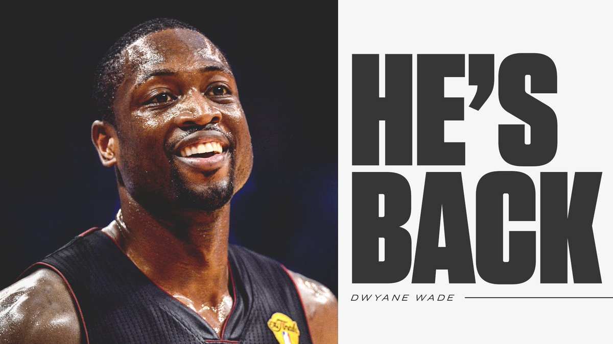 Breaking: Dwyane Wade announces he will return 'for one last season' with the Miami Heat.