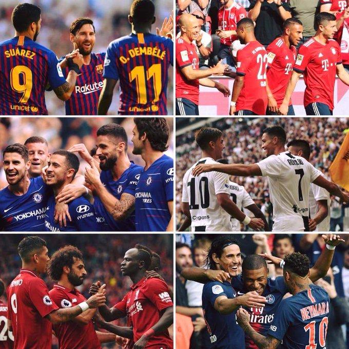 #FútbolInternacional⚽️ ¡PUNTAJE PERFECTO!👌 🇪🇸 Barcelona 12/12 🏴 Chelsea y Liverpool 15/15 🇮🇹 Juventus 12/12 🇩🇪 Bayern M. 9/9 🇫🇷 PSG 15/15 #DeAvance Photo