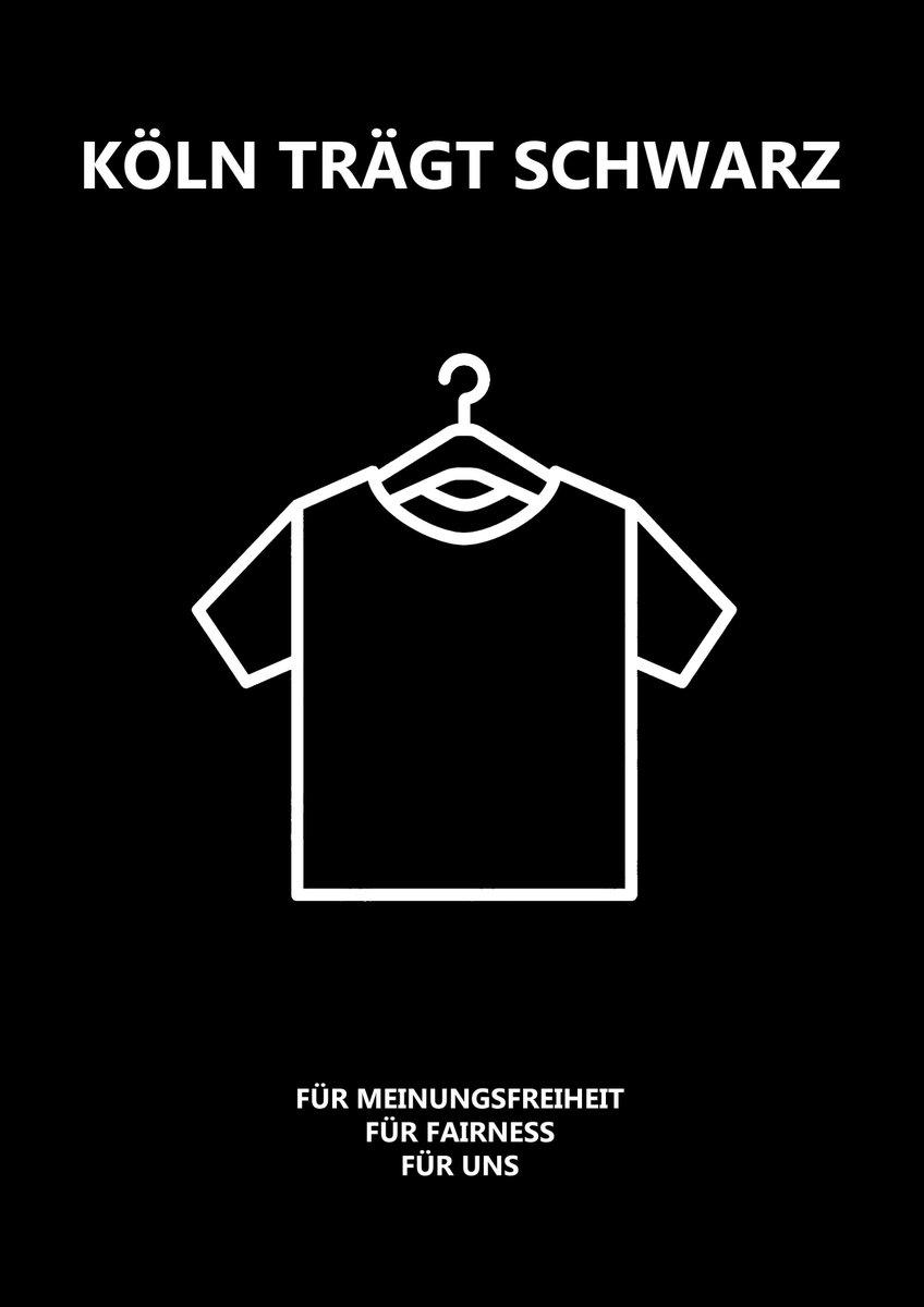 werde auf jeden fall da mitmachen! #blackölle #kölnträgtschwarz