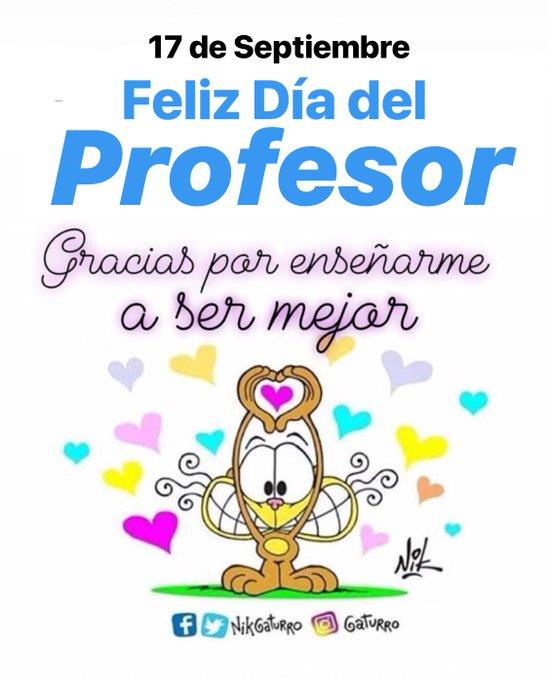 #BuenLunes 17 de Septiembre. Feliz Día del Profesor!!! #DiaDelProfesor Foto