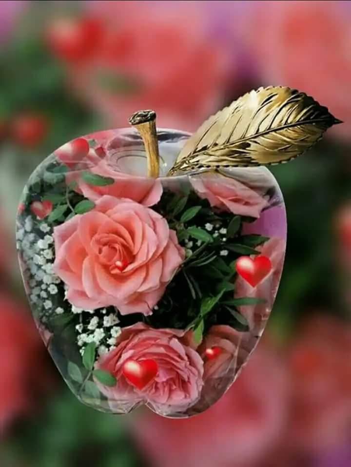 Открытка с добрым утром красивые розы, днем