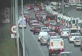 #CPTTraffic Accident: N2 inbound after Jan Smuts Dr, emergency lane blocked. Please approach with caution. Photo