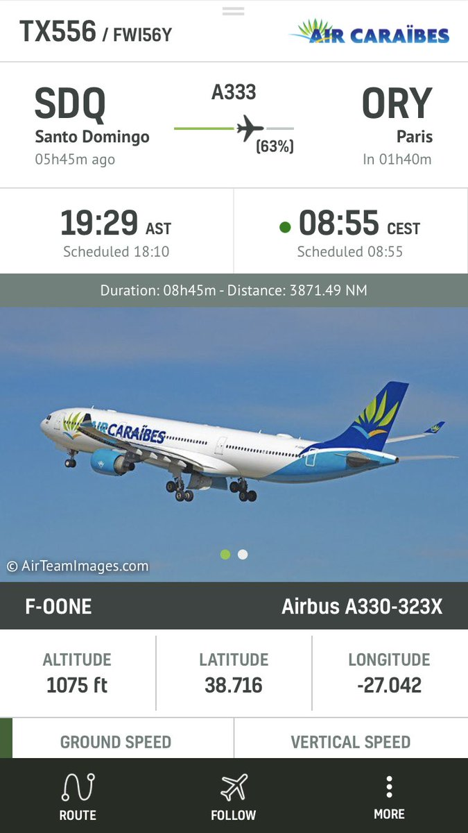 .@aircaraibes #TX556 to Paris ORY is declaring an emergency and diverting #radarbox https://t.co/TLO4wSBPE1