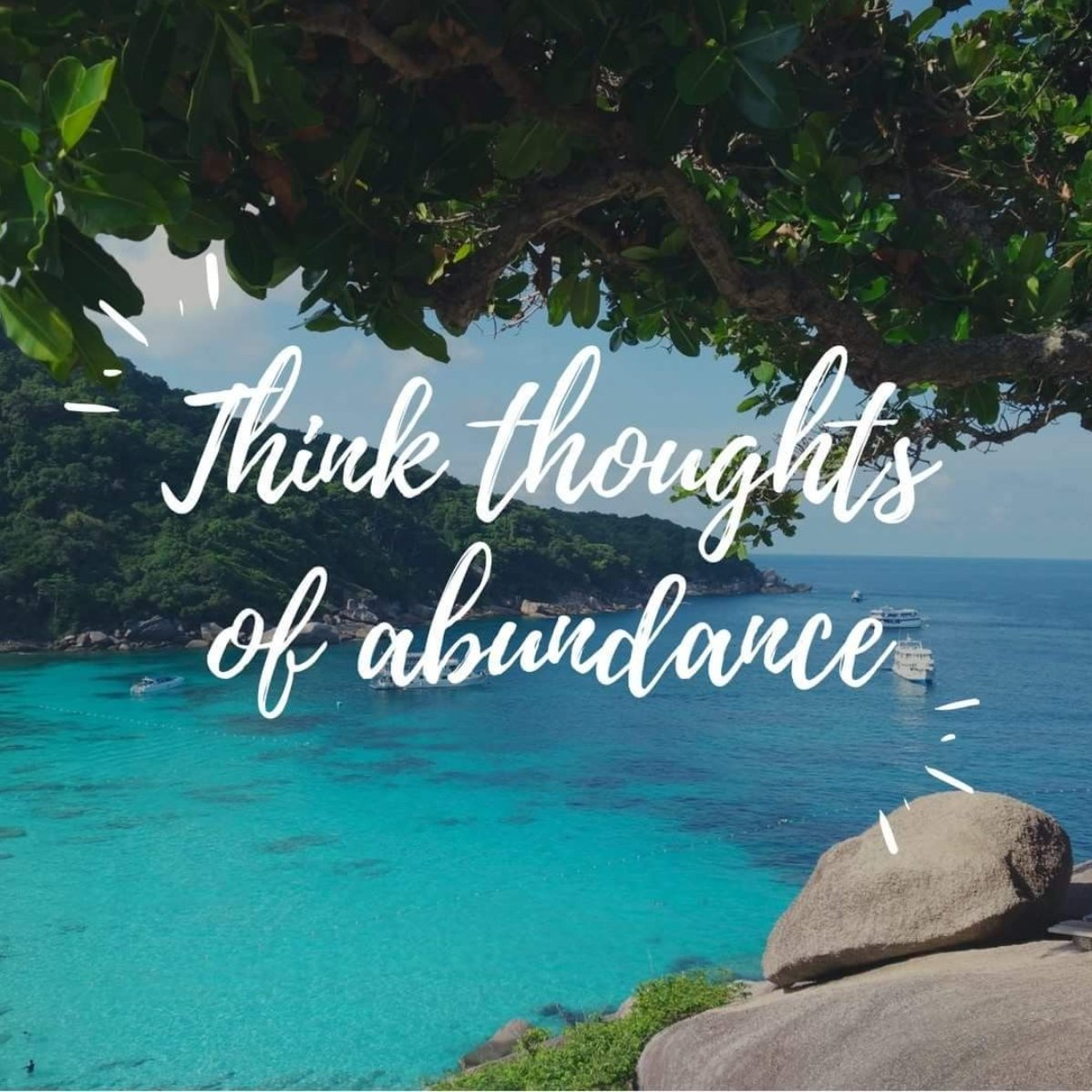 You must tip the balance of your thoughts from lack-of-money to more-than-enough-money. Think more thoughts of abundance than of lack, and you have tipped the balance.