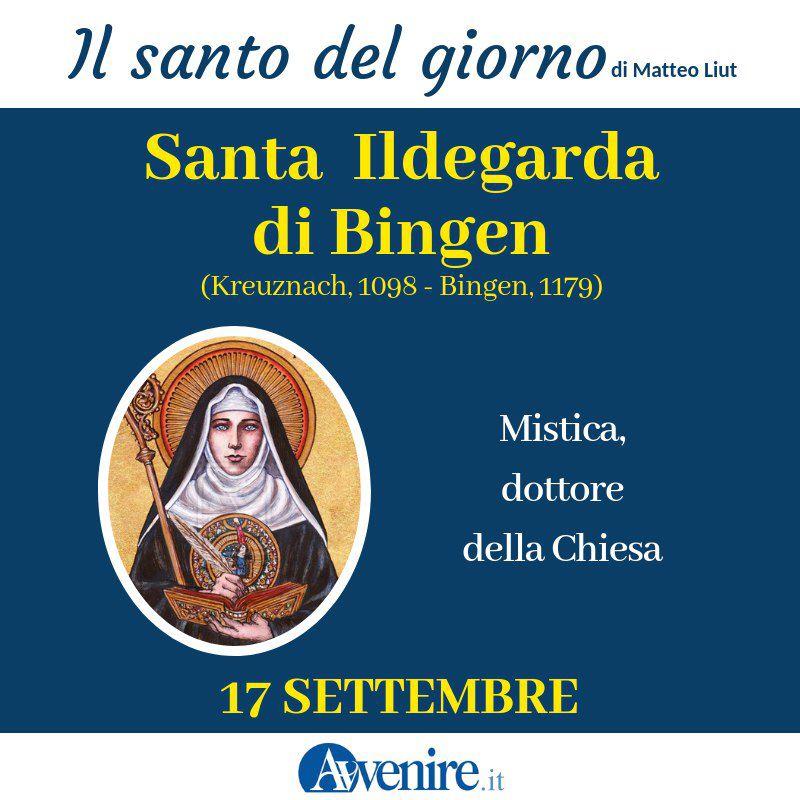 #17settembre  Santa Ildegarda di Bingen. La mistica che fu maestra per i potenti https://t.co/3JoQEq2hhU