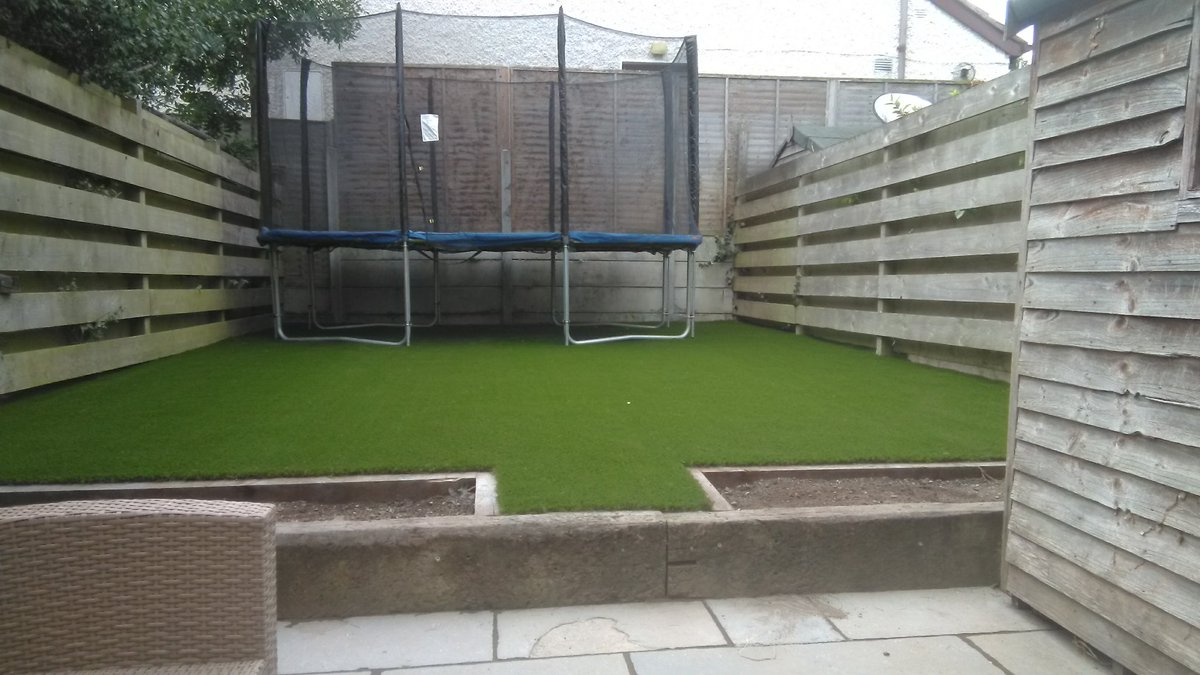 Dublin Artificial Grass On Twitter Front And Back Garden Completed