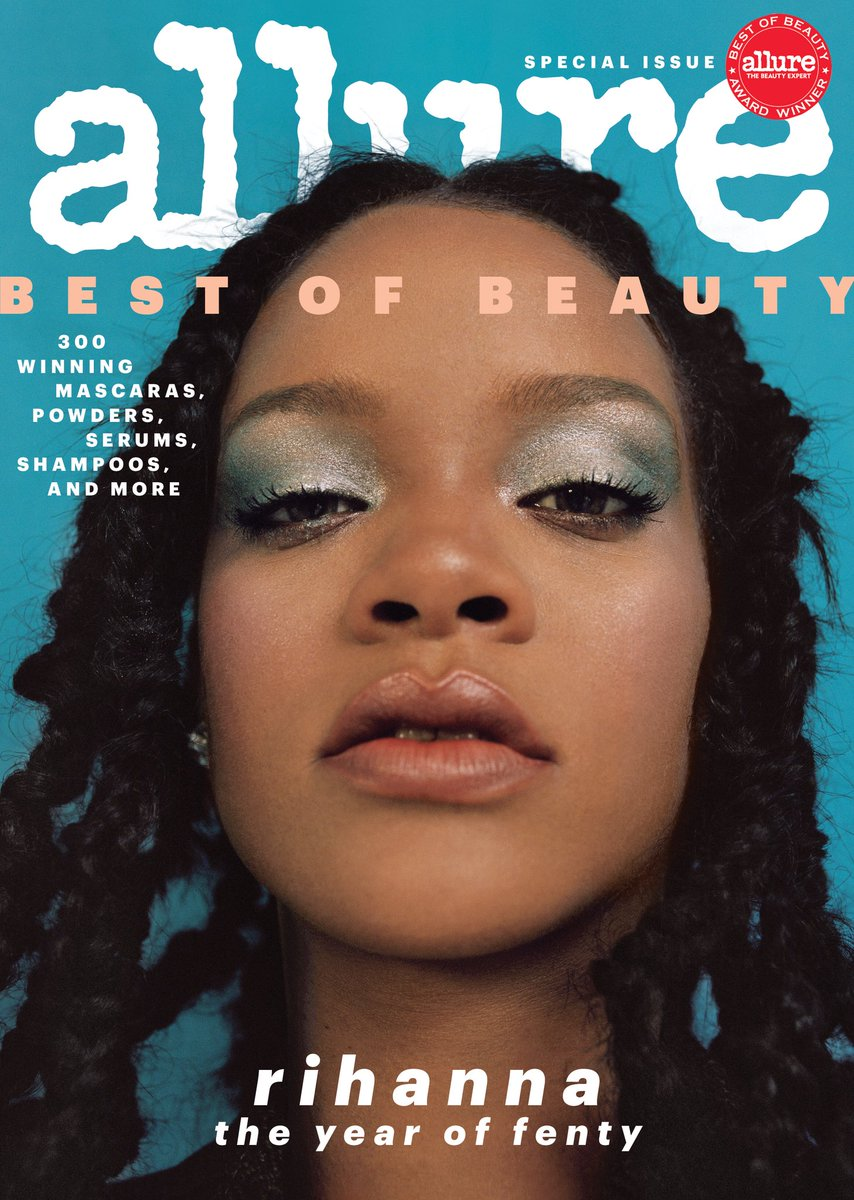 Excited to reveal my cover of this month's @Allure_magazine to celebrate @fentybeauty's #AllureBestofBeauty Breakthrough Award win!  Photographer: nadine ijewere Stylist: @illjahjah  Hair: @yusefhairnyc  Makeup: @PriscillaOno  Manicure: maria salandra  https://t.co/pbR5e6QT4H