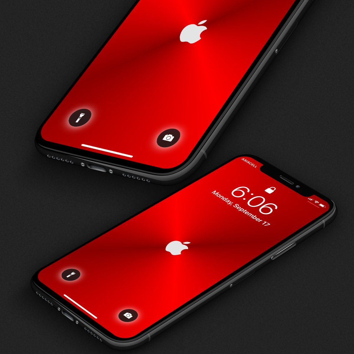 ˇ ˇ On Twitter Making New Red Apple Logo Wallpaper Available In