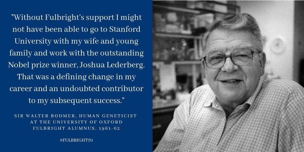 "US-UK Fulbright on Twitter: ""Sir Walter Bodmer, human geneticist ..."