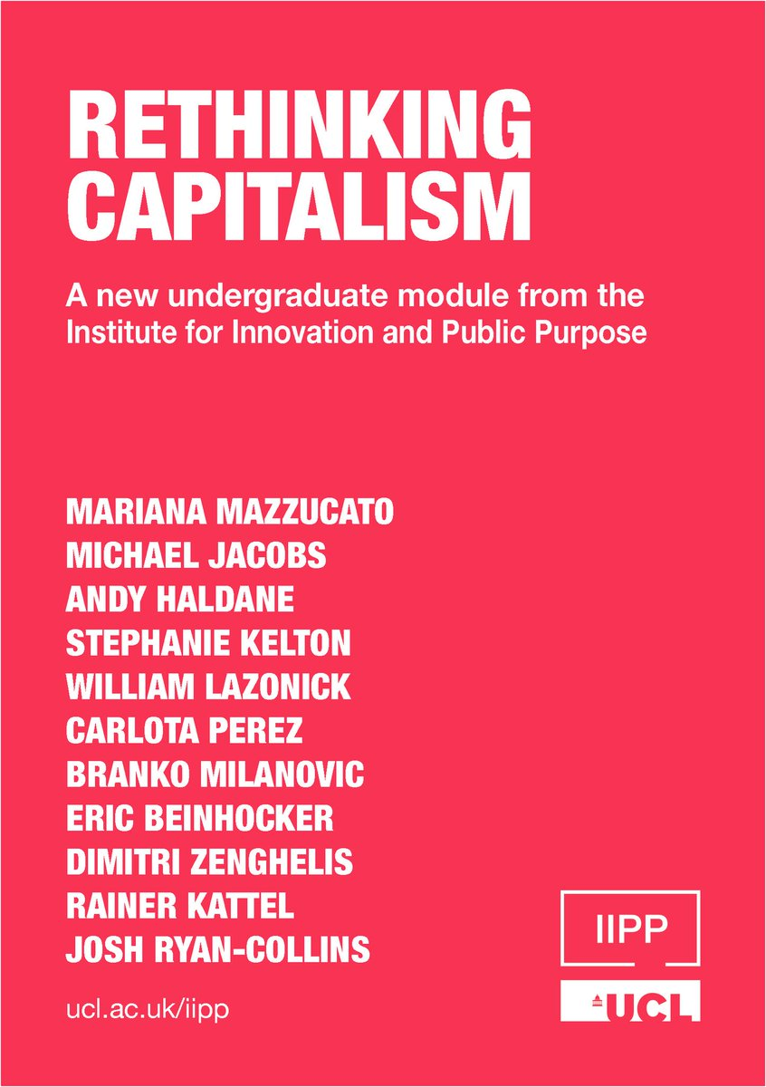 IIPP will launch Rethinking Capitalism in January 2019, a unique course that links new economic thinking to new economic policies. @ucl 2nd and 3rd year students can sign up now, more information here: ucl.ac.uk/bartlett/publi…