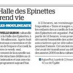 """Image for the Tweet beginning: [Lu dans @LeParisien_92] """"La Halle"""
