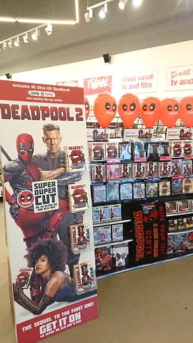 The merc with the mouth is in store now! Available on DVD, BLU-RAY, 4K and limited edition hmv exclusive steelbook! #Deadpool2 Photo