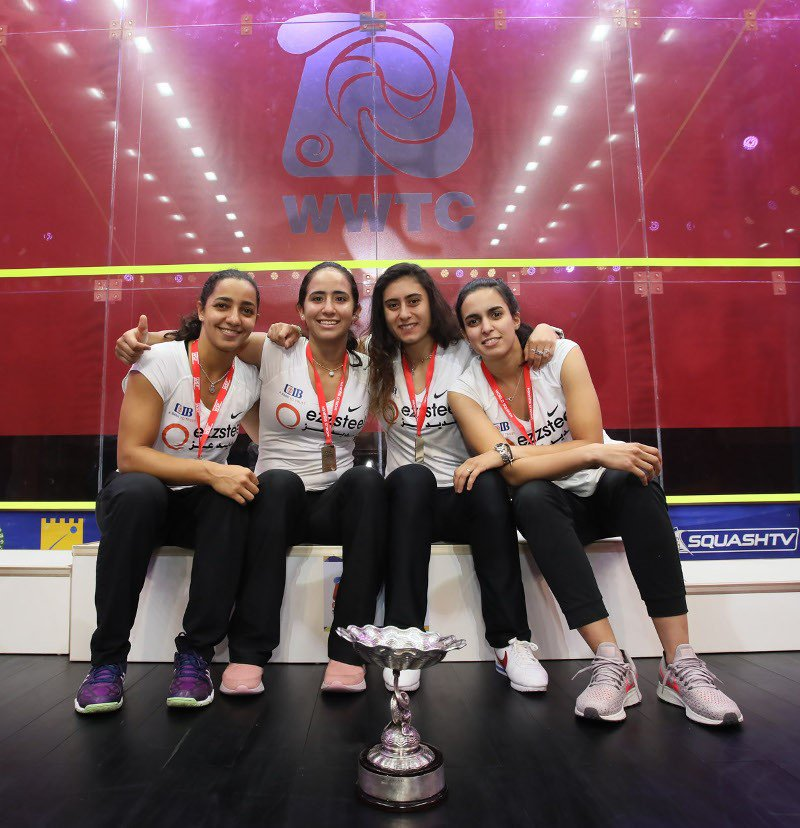 test Twitter Media - #News - Egypt defeat England to claim Women's World Team Championship in Dalian 🇪🇬  Read more here 👉 https://t.co/nMPgvcLUn1 #squash https://t.co/vfalqrkGa1