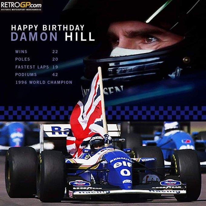 Happy Birthday, Damon Hill, F1 World Champion 1996