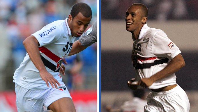 🇧🇷 @LucasMoura7 & João Miranda 🇧🇷 Hari Selasa bisa jadi saat yang tepat untuk reuni para alumni @SaoPauloFC (2010/11). 😉 Photo