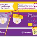 Image for the Tweet beginning: Are you registered to vote