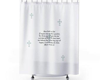FaithEveryDayButik On Twitter Inspiring Scripture Shower Curtain Tco TeXeNSQ6i8 Bathdecor Bathtime Homedecor Interiordesign Bath Faith