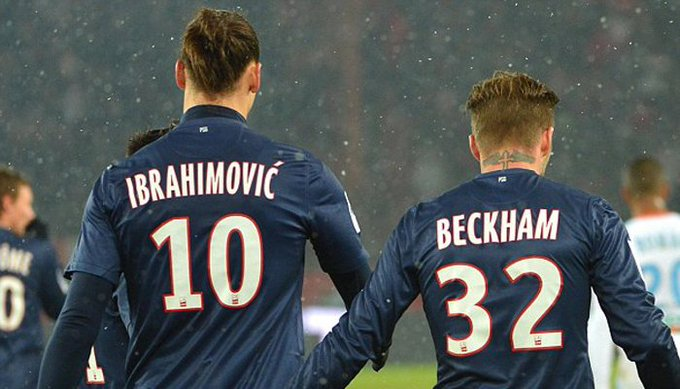 Beckham ampaisha Zlatan Ibrahimovic :- Photo