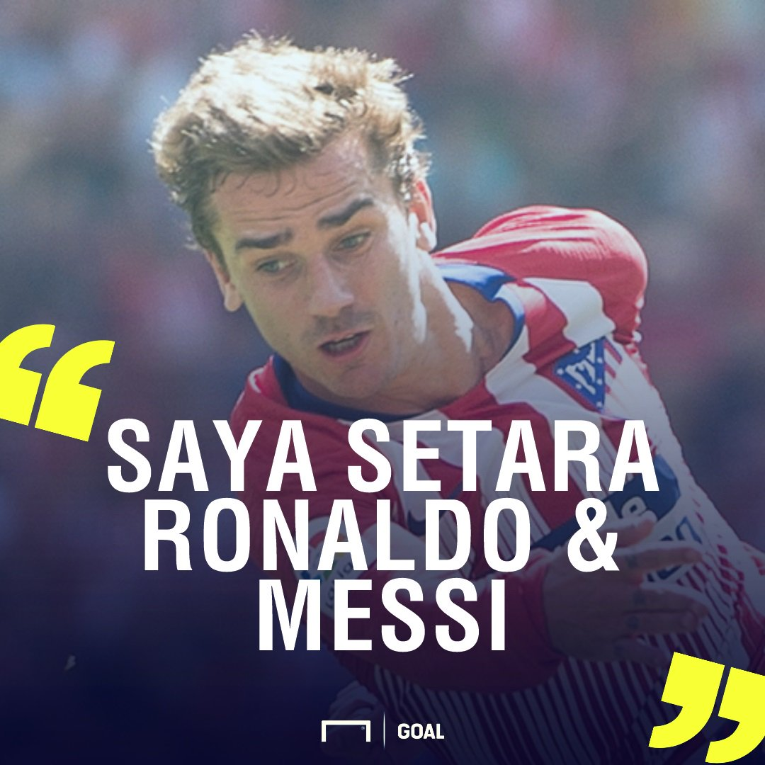 Antoine Griezmann: Saya Setara Lionel Messi & Cristiano Ronaldo  https://t.co/UTnP2PNJZB https://t.co/6BgeoDMYVp