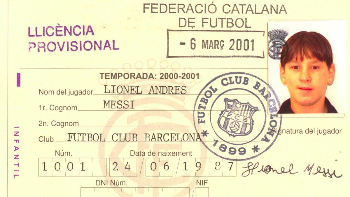 🔙 Septiembre 2000 Leo #Messi llegó a Barcelona. El mundo ya no sería lo mismo.
