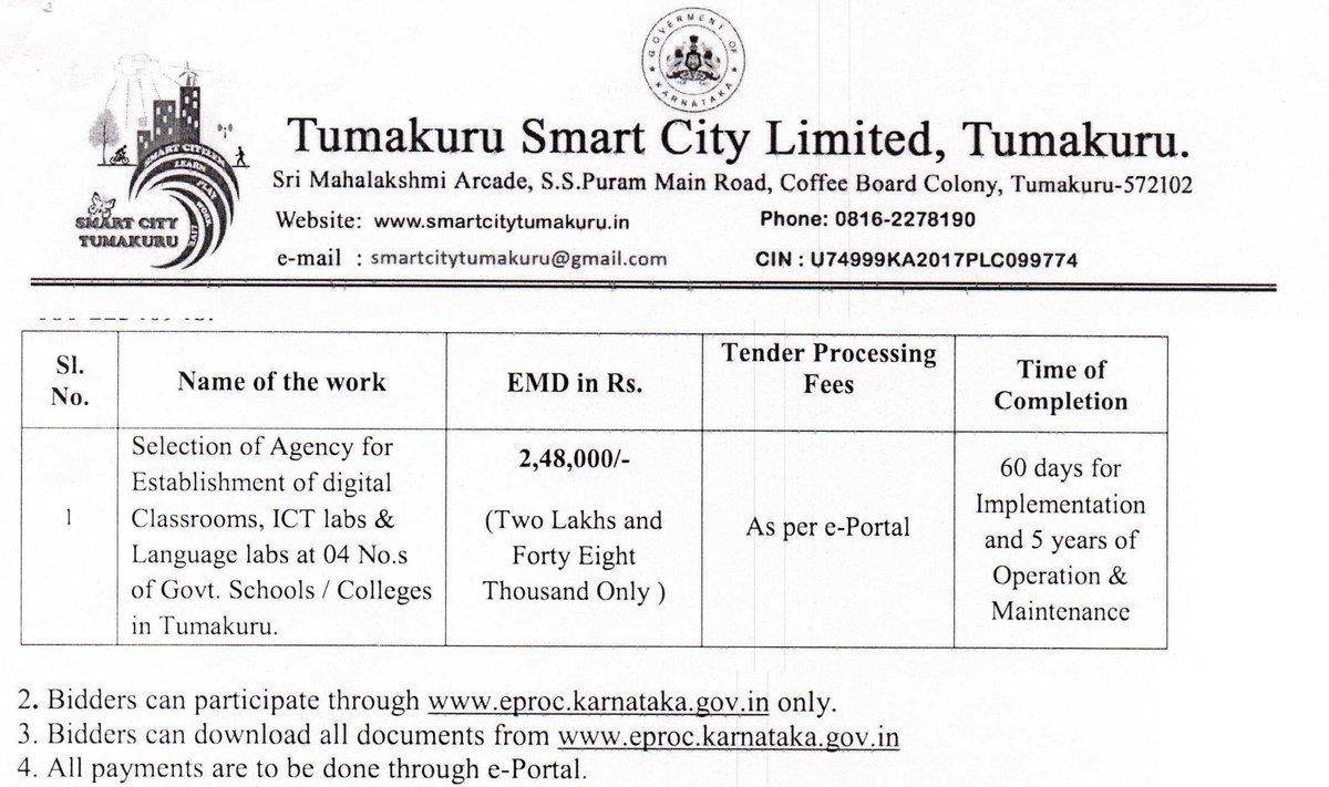 Tumakuru Smart City Limited on Twitter: