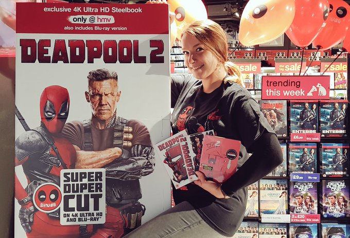 🎈🎈#deadpool2🎈🎈 Out NOW! Grab your exclusive 4K Ultra Steelbook at @hmvBrighton! 🔥🔥 #hmvExclusive Photo